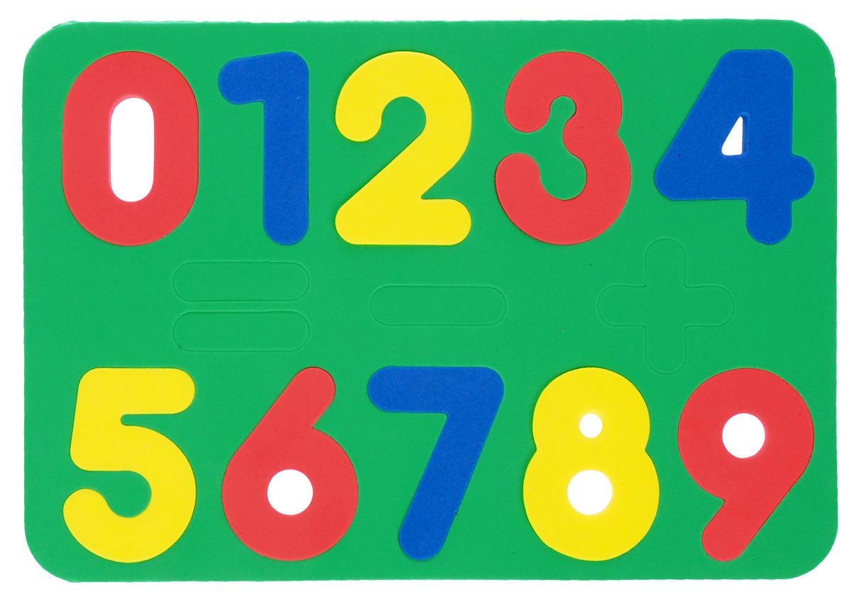 Бомик Пазл для малышей Цифры цвет основы зеленый август пазл для малышей рыбка цвет основы красный