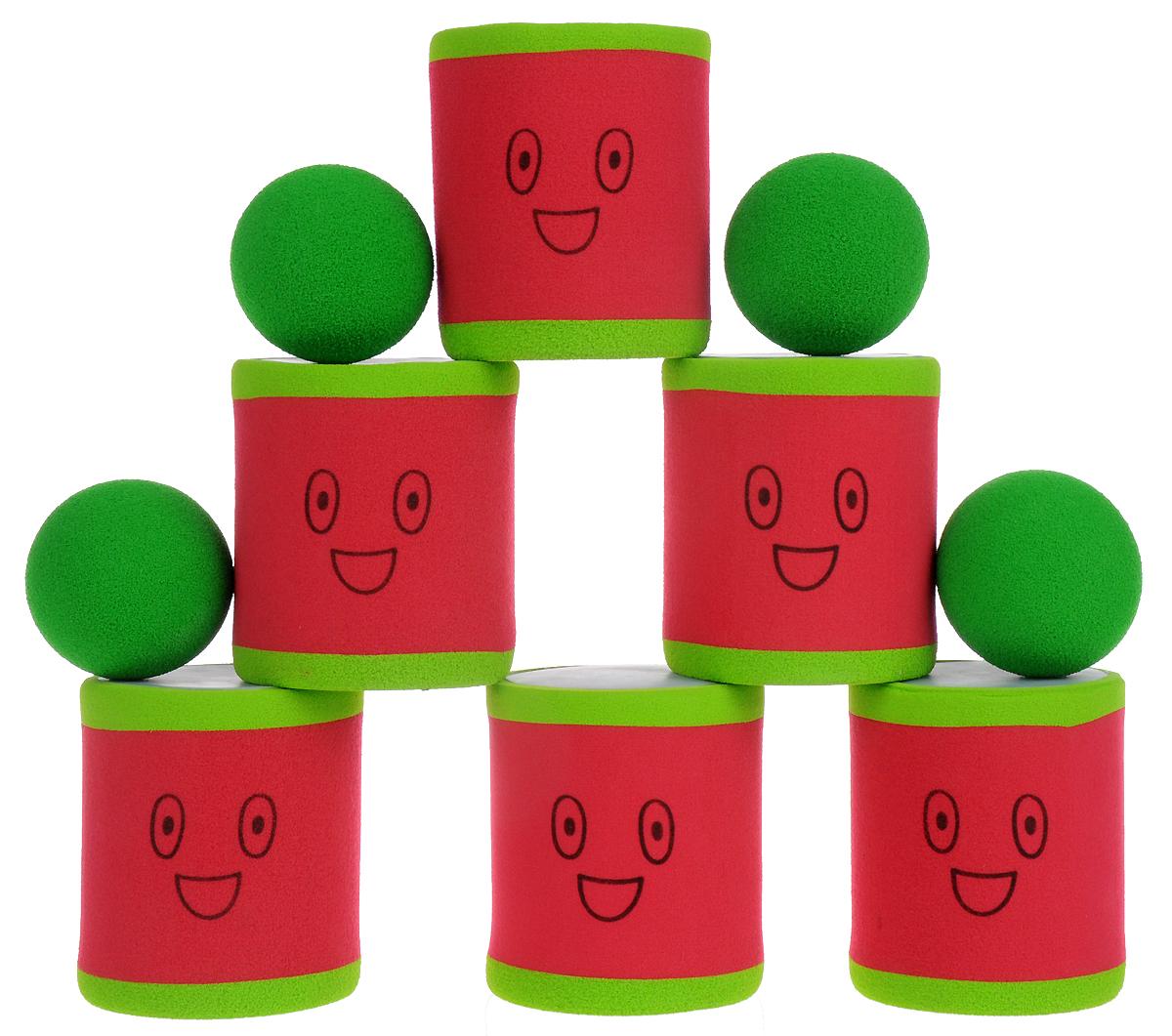 Safsof Игровой набор Городки цвет красный зеленый городки