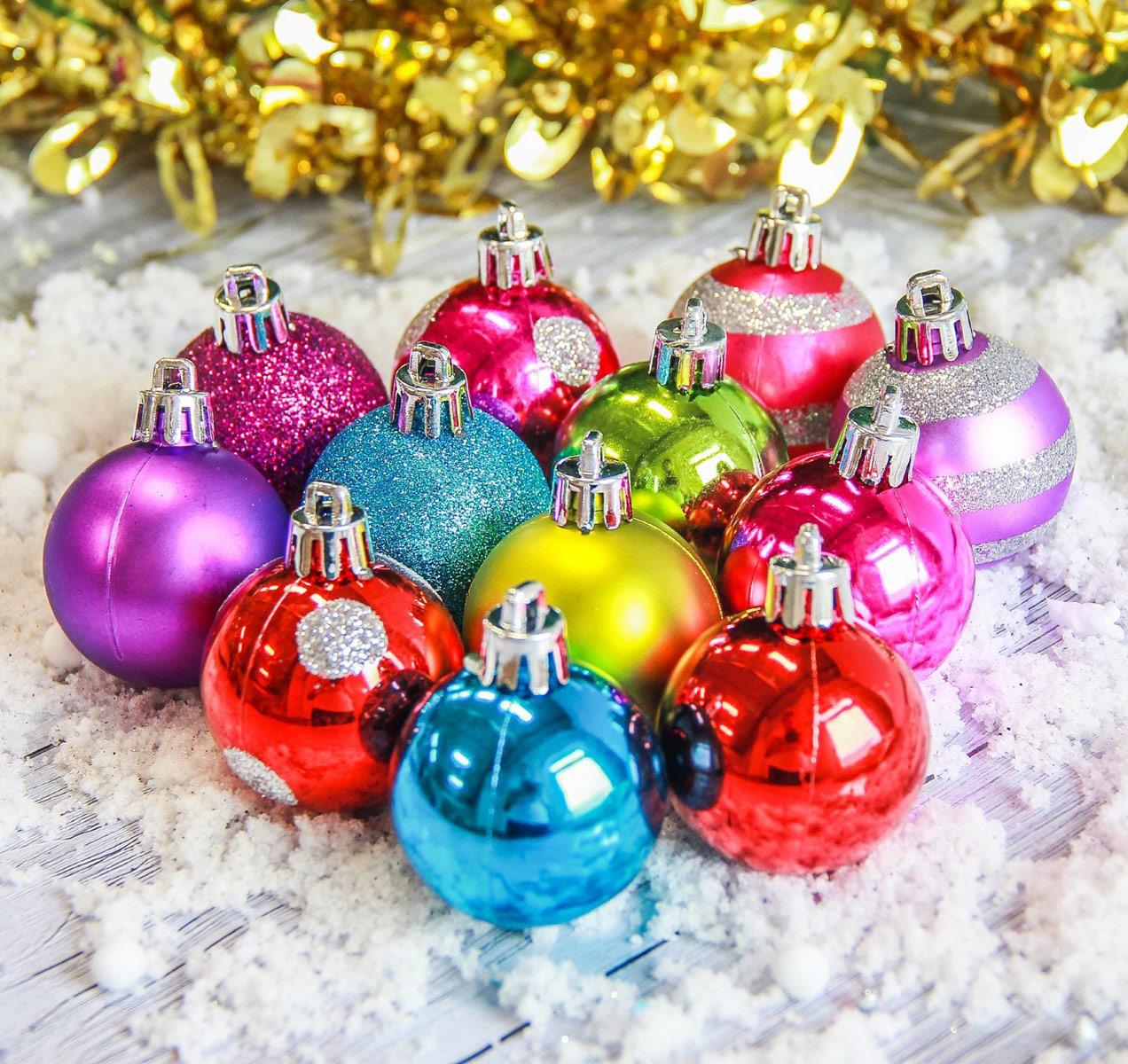 Набор новогодних подвесных украшений Sima-land Елочка, диаметр 4 см, 17 шт2187014