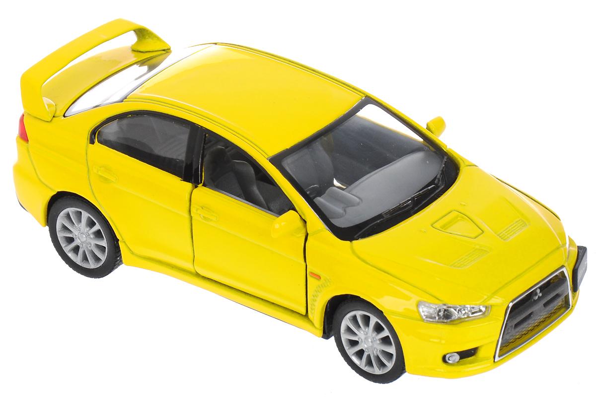 Kinsmart Модель автомобиля 2008 Mitsubishi Lancer Evolution X цвет желтый баргузин 2008 года цена