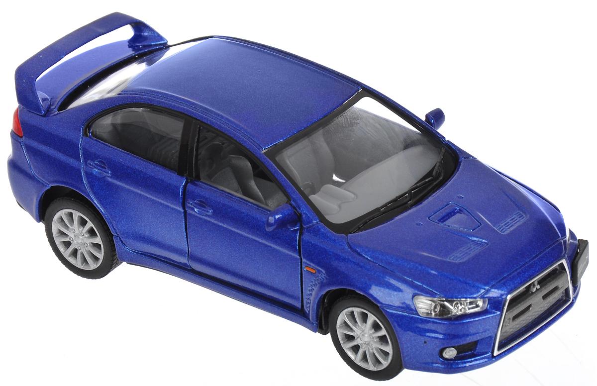 Kinsmart Модель автомобиля 2008 Mitsubishi Lancer Evolution X цвет синий баргузин 2008 года цена