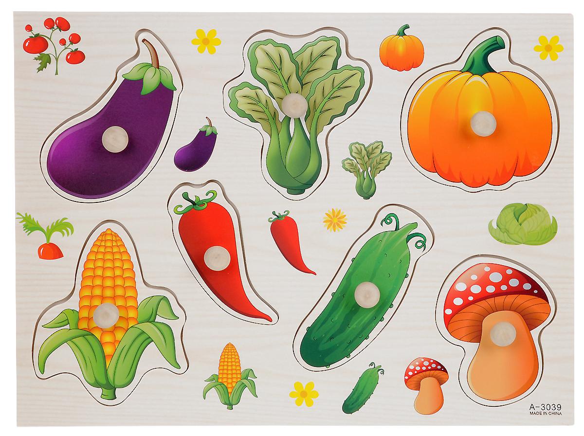 Фабрика Фантазий Пазл для малышей Овощи флексика пазл для малышей геометрия цвет основы красный