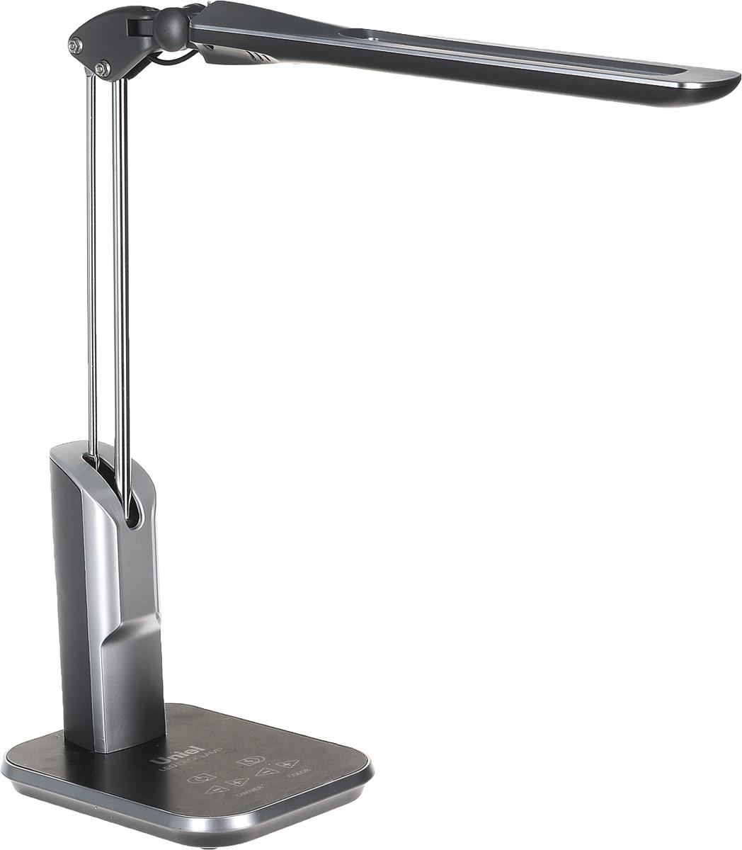 Светильник настольный Uniel LED TLD-515, светодиодный, с диммером, цвет: серый, 9 Вт09106Настольная лампа относится к осветительным приборам, основной функцией которых является создание дополнительного света в определенной зоне, в данном случае – на столе.