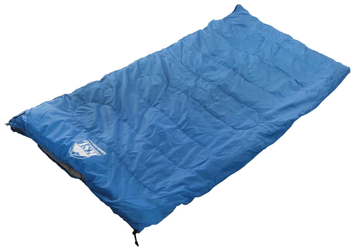 Спальный мешок-одеяло KSL Camping Comfort, цвет: синий, правосторонняя молния. 6253.01051 цена и фото