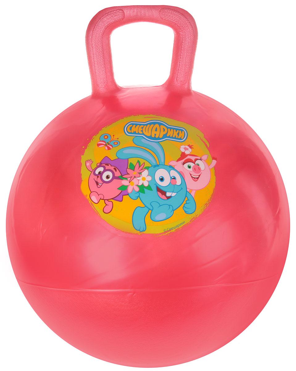 Фото Играем вместе Мяч-прыгунок Смешарики с ручкой цвет красный 45 см