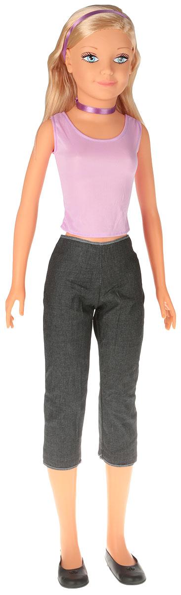Falca Кукла Дженни Звезда цвет одежды сиреневый серый кукла yako m6579 6