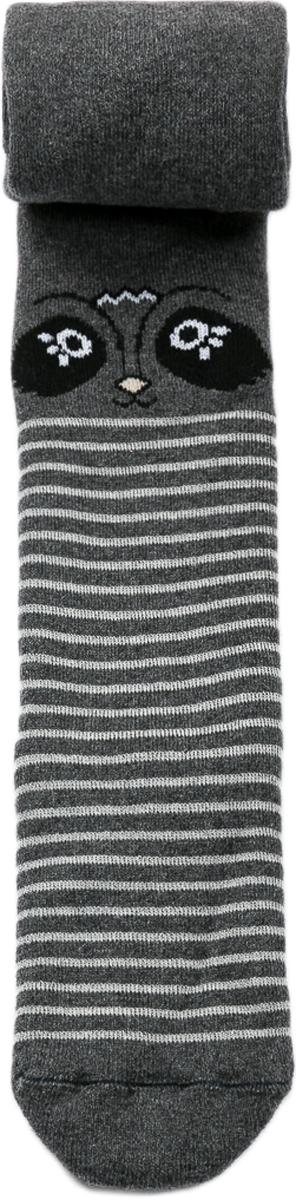 Колготки для девочки Mark Formelle, цвет: темно-серый. 702K-720_5666. Размер 104/110702K-720_5666Удобные и практичные махровые детские колготки от Mark Formelle, изготовленные из высококачественного хлопкового материала с добавлением полиамида и эластана, очень мягкие и приятные на ощупь, позволяют коже дышать. Колготки имеют широкую резинку на поясе и эластичные швы, а усиленные пятка и мысок обеспечивают надежность и долговечность при носке. Колготки оформлены рисунком в виде мордочек енотов и полосками.