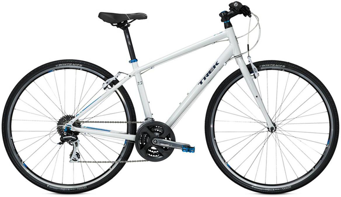Велосипед женский Trek 7.2 FX WSD 2015, цвет: белый, рама 13,5, колесо 28209725