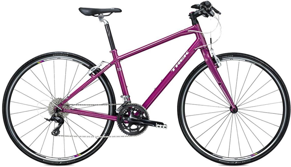 Велосипед женский Trek 7.5 FX WSD 2015, цвет: фиолетовый, рама 15, колесо 28242979