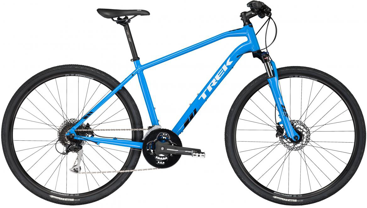 Велосипед городской Trek DS 3 2017, цвет: голубой, рама 21, колесо 28272464