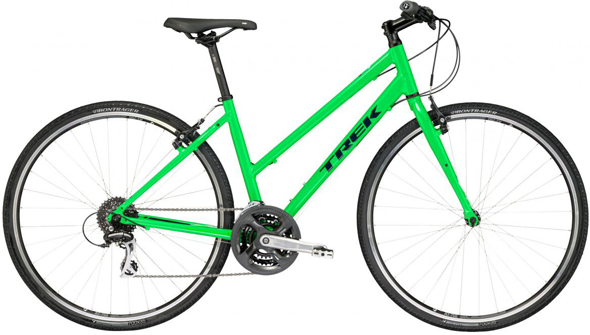 Велосипед городской Trek FX 2 WSD 2017, цвет: зеленый, рама 17, колесо 28272697