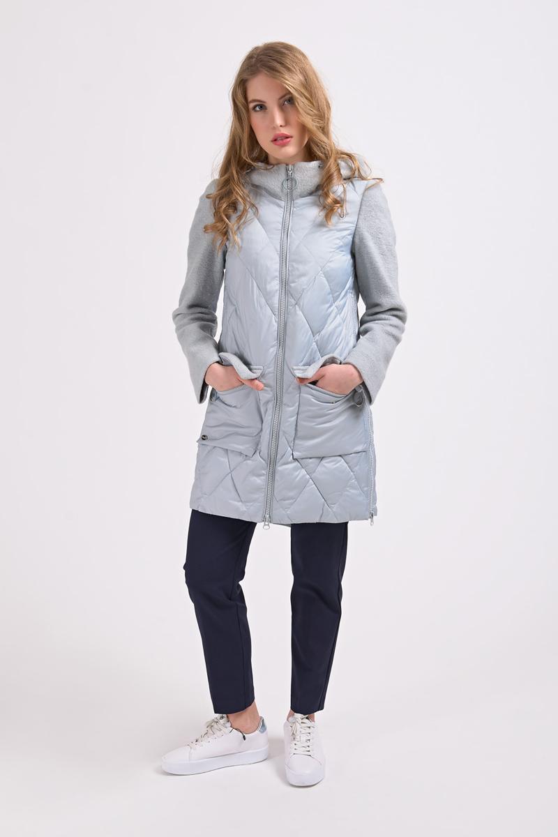 Куртка женская Elfina, цвет: мятный. 18158_17. Размер 44 женская утепленная куртка 2015 new non elastic cuffs 2015