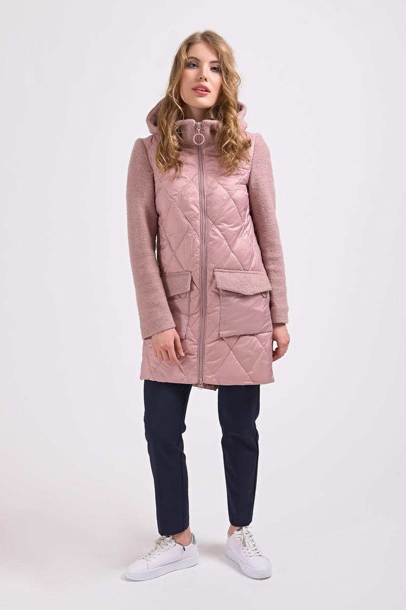 Куртка женская Elfina, цвет: розовый. 18158_D15A. Размер 46 женская утепленная куртка playboy 11237031