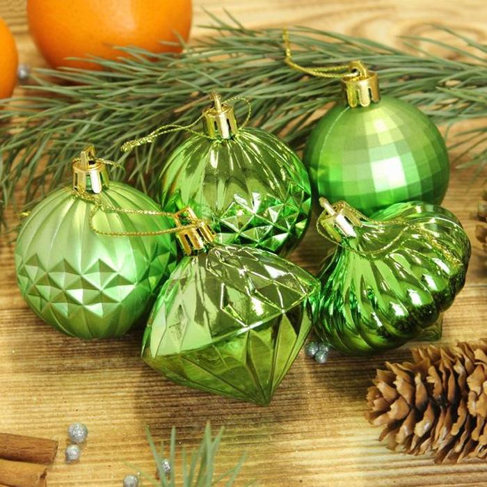 Украшение новогоднее подвесное Sima-land Клио, цвет: зеленый, диаметр 5,5 см, 20 шт кармашки на стену для бани sima land банные мелочи цвет белый 3 шт