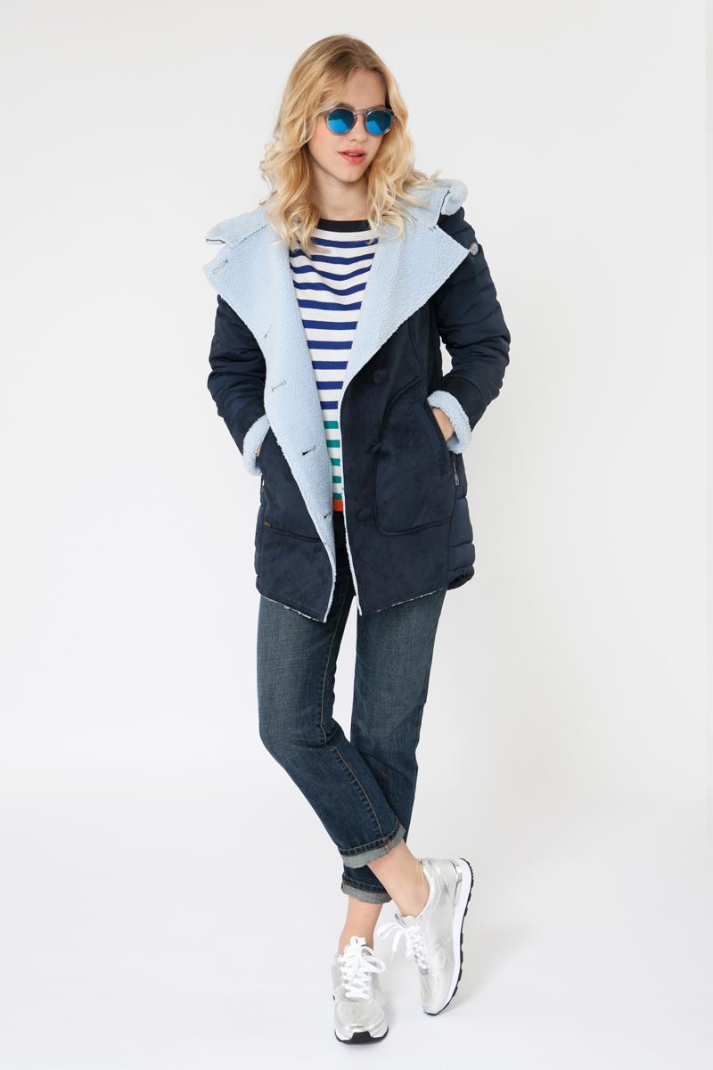 Куртка женская Elfina, цвет: синий. F1706-KW_POSEIDON. Размер XL (50)F1706-KW_POSEIDON