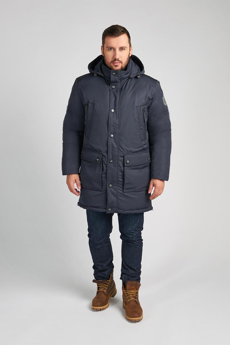 Куртка мужская Vizani, цвет: синий. 10618NP_99. Размер 5010618NP_99Модная мужская куртка Vizani изготовлена из высококачественного полиэстера. В качестве наполнителя используется искусственный пух. Куртка со съемным капюшоном застегивается на застежку-молнию и ветрозащитную планку на кнопках. Капюшон дополнен эластичной кулиской со стопперами. Спереди предусмотрено четыре боковых кармана и два нагрудных кармана. На внутренней стороне расположено два вшитых кармана на молниях. На спинке по линии талии предусмотрены хлястики с кнопками для регулировки объема. По бокам изделие дополнено функциональными разрезами на молниях.