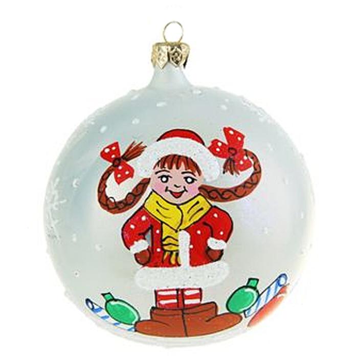 Украшение новогоднее елочное Иней Снегурочка озорница, цвет: белый, диаметр 10 см1519301_белыйЕлочная игрушка - символ приближающегося праздника. Она послужит прекрасным подарком как для ребенка, так и для взрослого, а также дополнит новогодний интерьер. Шары будут отлично смотреться на праздничной елке.