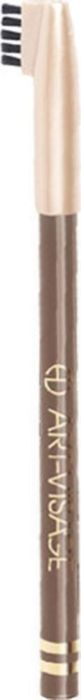 Art-Visage Карандаш для бровей / Eyebrow pencil, т. 406, 0,78 г018473Карандаш для бровей для максимально естественных бровей Карандаш обладает плотной текстурой, что позволяет создавать максимально естественный цвет бровей, одновременно корректировать их и подчеркивать форму. Щеточка на конце колпачка поможет легко растушевать нанесенную линию до желаемой насыщенности. Пальмовые глицериды и гидрогенезированное касторовое масло — кондиционирующие и ухаживающие компоненты. Натуральные тугоплавкие воски (пчелиный, карнаубский и фруктовый) обеспечивают повышенную стойкость цвета в течение дня.Как создать идеальные брови: пошаговая инструкция. Статья OZON Гид