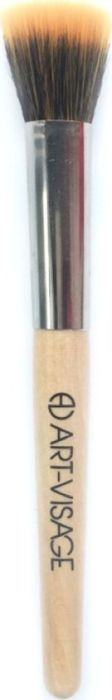 Art-Visage Кисть для тональных средств №1 ровная (нейлон/коза)AV043192Особенность этой широкой круглой кисти - ворсинки разной фактуры и длины, что позволяет одной кистью наносить тон на поверхность, растушевывать без полос и вбивать средство. Таким образом достигается равномерное, легкое покрытие без эффекта штукатурки. Использованный ворс - нейлон и коза.