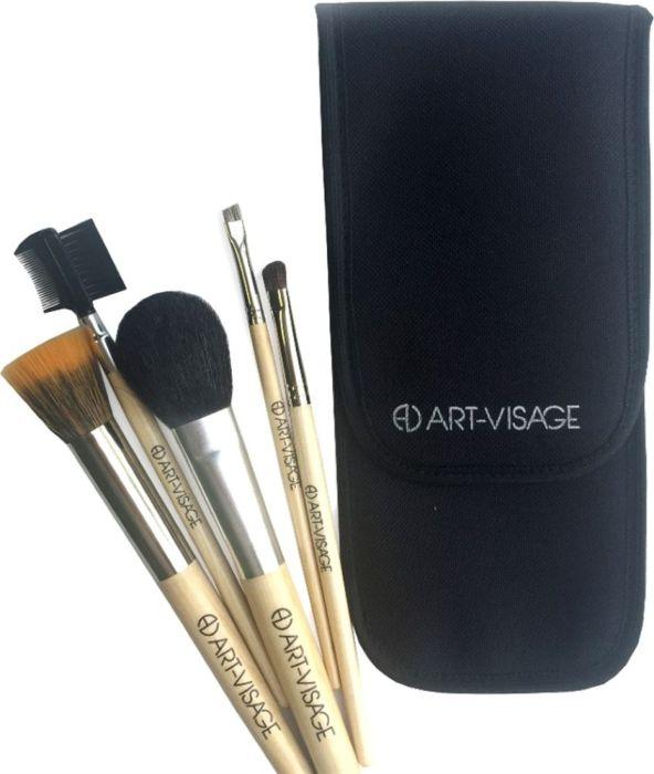 Art-Visage Футляр для 5 кистей (ткань)AV043260Практичный пенал позволит содержать кисти в порядке, а их ворс – в сохранности, без заломов и распушения. Вмещает простой базовый набор кистей.
