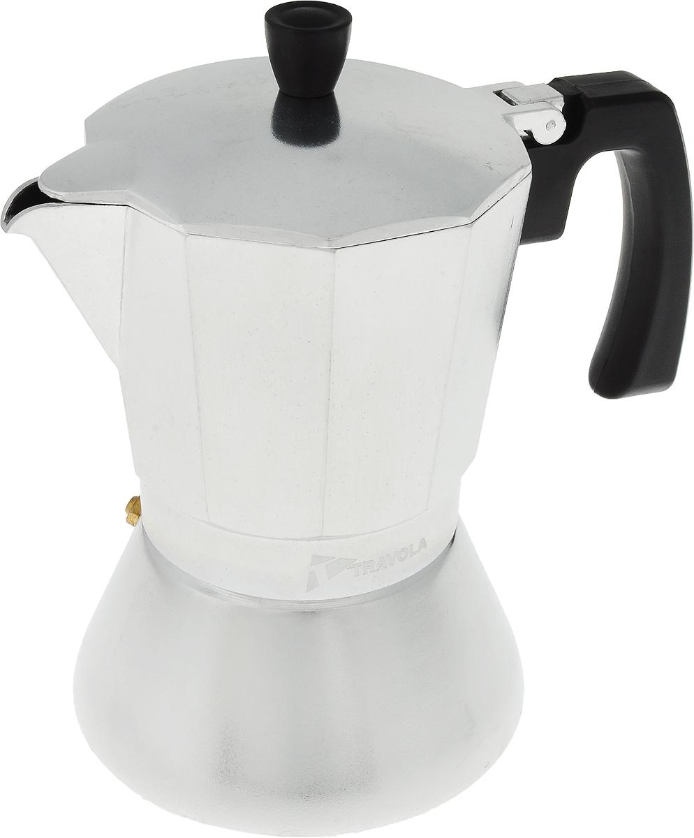 Кофеварка гейзерная Travola, на 9 чашек для индукционных плитXC45-9cupsКофеварка Travola идеально подходит для приготовления традиционного кофе. Кофеварка изготовлена из высококачественной нержавеющей стали и предназначена для индукционной плиты. Эргономичная рукоятка выполнена из жароупорного пластика, поэтому не обжигает руки. Кофеварка очень проста в использовании: - наполните основание водой, - насыпьте туда кофе, - закройте, - поставьте на плиту, - сварите кофе, - подавайте на стол. Объем рассчитан на приготовление девяти чашек кофе. Стильный дизайн кофеварки Travola сделает ее ярким элементом интерьера вашей кухни.