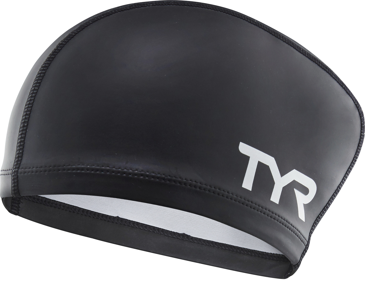 Шапочка для плавания Tyr Long Hair Silicone Comfort Swim Cap, цвет: черный. LSCCAPLH
