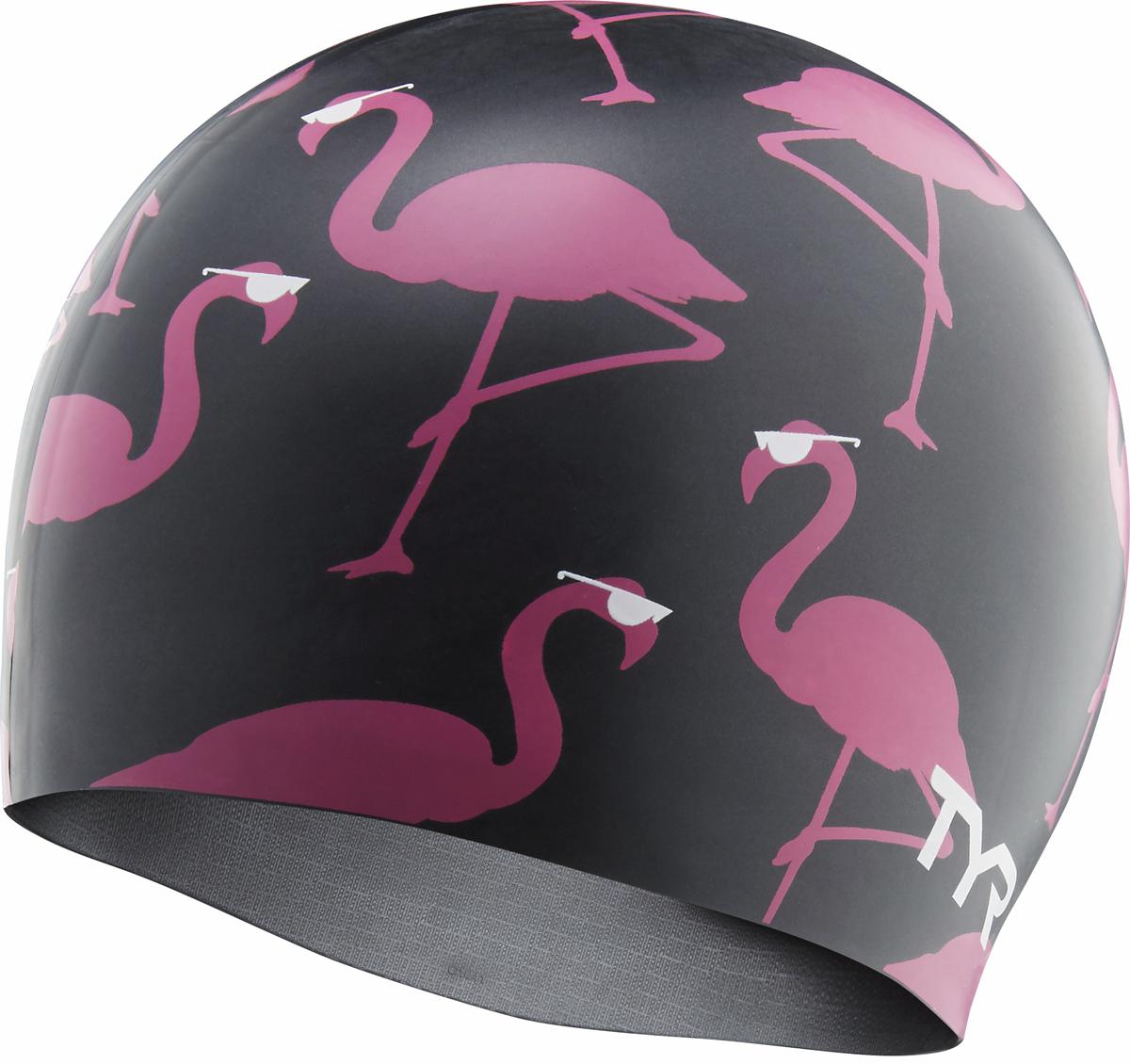 Шапочка для плавания TYR Silicone Pink Flamingo Cap, цвет: черный, розовый. LCSFLAGOLCSFLAGOСиликоновая шапочка TYR с принтом изготовлена из высококачественного материала, устойчивого к воздействию хлорированной воды, что гарантирует долгий срок службы. Материал шапочки не вызывает раздражения кожи и других аллергических реакций. Прекрасный вариант для тренировок в бассейне.