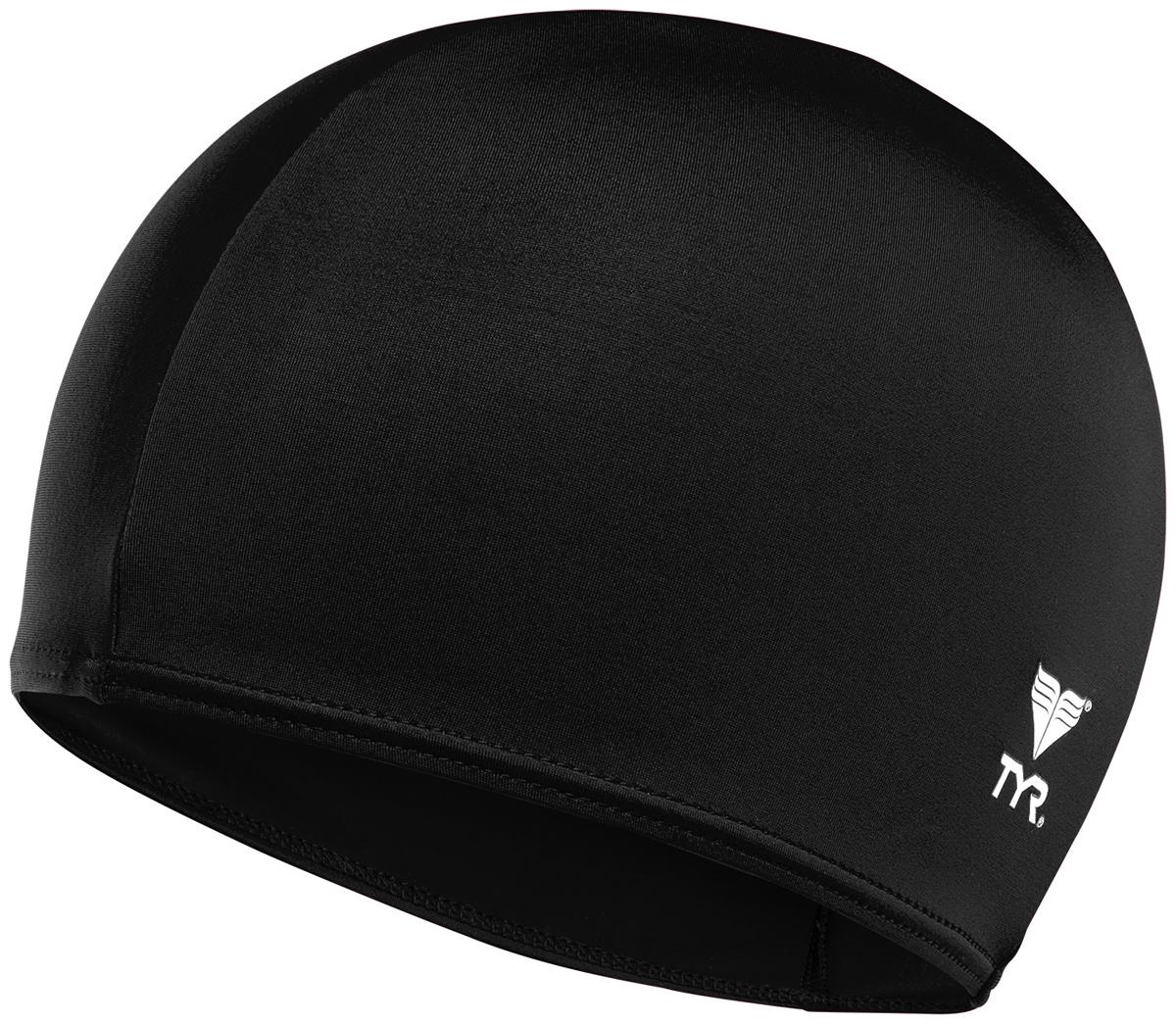 Шапочка для плавания Tyr Solid Lycra Cap, цвет: черный. LCY шапочка для плавания tyr tyr ty003dujzb79