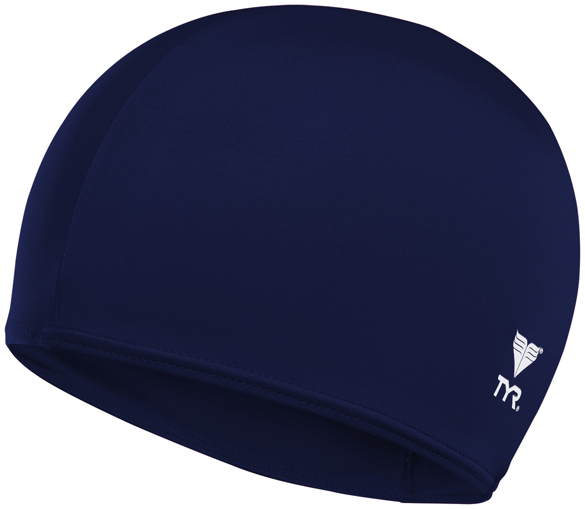 Шапочка для плавания Tyr Solid Lycra Cap, цвет: синий. LCY шапочка для плавания tyr tyr ty003duxit11