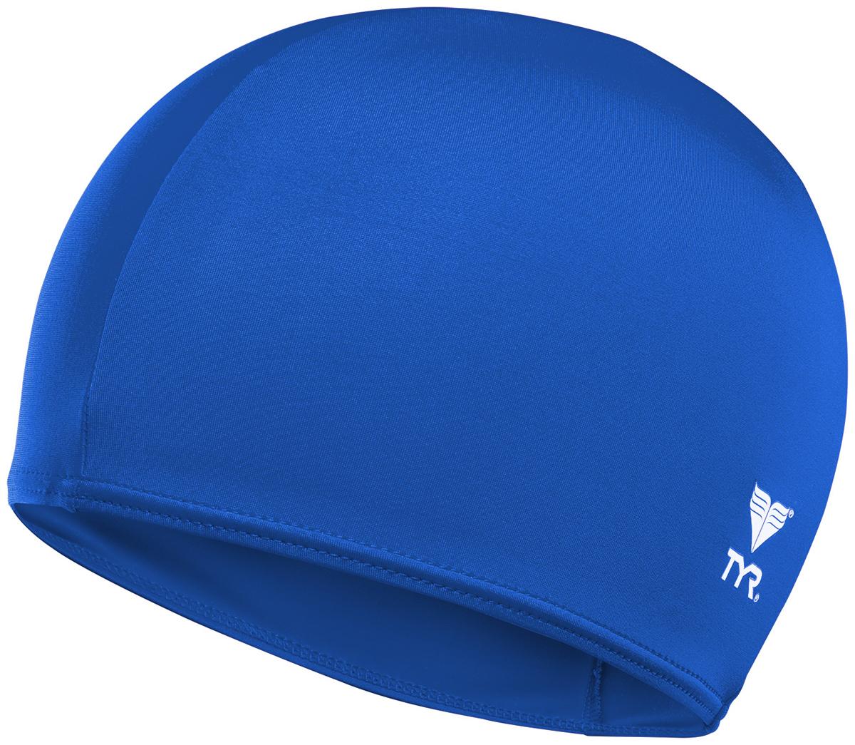 Шапочка для плавания TYR Solid Lycra Cap, цвет: голубой. LCY