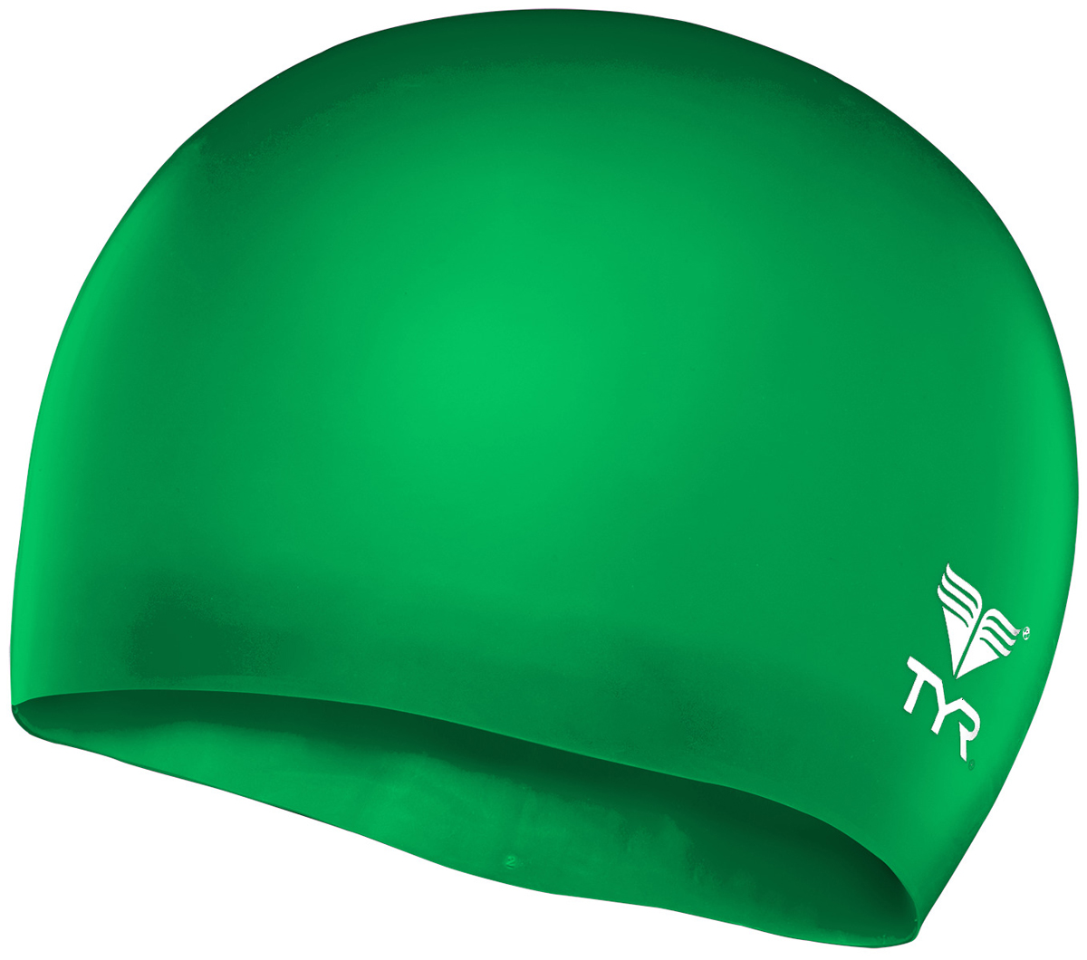 Шапочка для плавания Tyr Wrinkle Free Junior Silicone Cap, цвет: зеленый. LCSJR кольца tyr dive rings цвет ассорти lstsrng