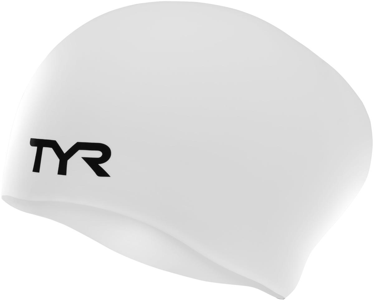 Шапочка для плавания Tyr Long Hair Wrinkle-Free Silicone Cap, цвет: белый. LCSLLCSLСиликоновая шапочка TYR Long Hair Wrinkle Free изготовлена из высококачественного материала, устойчивого к воздействию хлорированной воды, что гарантирует долгий срок службы. Материал шапочки не вызывает раздражения кожи и других аллергических реакций. Ассиметричный дизайн шапочки специально разработан для людей с длинными волосами (они не будут зажиматься или стягиваться, их можно аккуратно убрать назад). Прекрасный вариант для тренировок в бассейне.