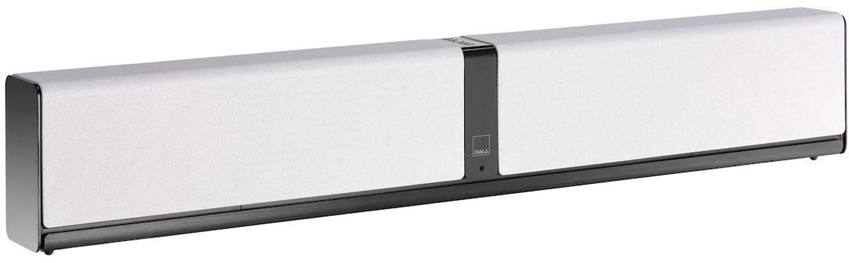 Dali Kubik One, White саундбар34970Dali Kubik One выделяется лаконичным скандинавским дизайном и выполнено в корпусе небольшой глубины, благодаря чему его можно разместить на стене, либо поставить на любую подходящую полку.Акустическая система выполнена в алюминиевом корпусе, который при небольшой толщине стенок (то есть максимальном сохранении внутреннего объема) обладает превосходными механическими характеристиками. Dali Kubik One имеет стереофоническую конфигурацию и оснащена парой встроенных двухполосных систем. Высокочастотные динамики имеют мягкий купол и ферритовую магнитную систему с узким зазором, повышающим эффективность преобразования электрического сигнала в звуковой.Низкочастотные излучатели изготовлены непосредственно на производстве Dali. Их диффузоры выполнены из древесной массы, а магнитная система обладает повышенной мощностью. Точное согласование параметров басовиков и внутреннего объема АС позволило обойтись без фазоинверторов, способных окрасить звук, и в то же время добиться воспроизведения басов с 48 Гц (по уровню -3 дБ).Dali Kubik One оснащен раздельными усилителями для каждого динамика, работающими в классе D и развивающими мощность 4 х 25 Вт. Сигнал на усилители поступает с активного фильтра, выполненного на базе DSP. Точное согласование частотных полос, которое обеспечивает такое решение, позволяет получить детальное и сбалансированное звучание аудиосистемы.В числе подключений можно увидеть разъем micro-USB с поддержкой 24 бит / 96 кГц, два оптических и один аналоговый вход. Беспроводное подключение осуществляется через приемник Bluetooth 3.0 с поддержкой Apt-X. Также к выходу можно подсоединить активный сабвуфер.Высокочастотный динамик: 2 x 25 ммНизкочастотный динамик: 2 x 5,25Тип усилителя: полностью цифровой класс DМаксимальная потребляемая мощность: 150 Вт