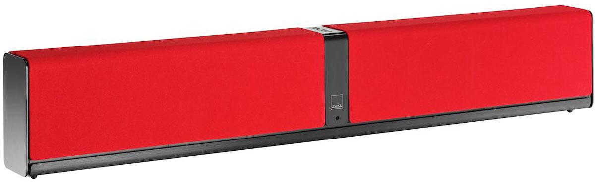 Dali Kubik One, Red саундбар34971Dali Kubik One выделяется лаконичным скандинавским дизайном и выполнено в корпусе небольшой глубины, благодаря чему его можно разместить на стене, либо поставить на любую подходящую полку.Акустическая система выполнена в алюминиевом корпусе, который при небольшой толщине стенок (то есть максимальном сохранении внутреннего объема) обладает превосходными механическими характеристиками. Dali Kubik One имеет стереофоническую конфигурацию и оснащена парой встроенных двухполосных систем. Высокочастотные динамики имеют мягкий купол и ферритовую магнитную систему с узким зазором, повышающим эффективность преобразования электрического сигнала в звуковой.Низкочастотные излучатели изготовлены непосредственно на производстве Dali. Их диффузоры выполнены из древесной массы, а магнитная система обладает повышенной мощностью. Точное согласование параметров басовиков и внутреннего объема АС позволило обойтись без фазоинверторов, способных окрасить звук, и в то же время добиться воспроизведения басов с 48 Гц (по уровню -3 дБ).Dali Kubik One оснащен раздельными усилителями для каждого динамика, работающими в классе D и развивающими мощность 4 х 25 Вт. Сигнал на усилители поступает с активного фильтра, выполненного на базе DSP. Точное согласование частотных полос, которое обеспечивает такое решение, позволяет получить детальное и сбалансированное звучание аудиосистемы.В числе подключений можно увидеть разъем micro-USB с поддержкой 24 бит / 96 кГц, два оптических и один аналоговый вход. Беспроводное подключение осуществляется через приемник Bluetooth 3.0 с поддержкой Apt-X. Также к выходу можно подсоединить активный сабвуфер.Высокочастотный динамик: 2 x 25 ммНизкочастотный динамик: 2 x 5,25Тип усилителя: полностью цифровой класс DМаксимальная потребляемая мощность: 150 Вт