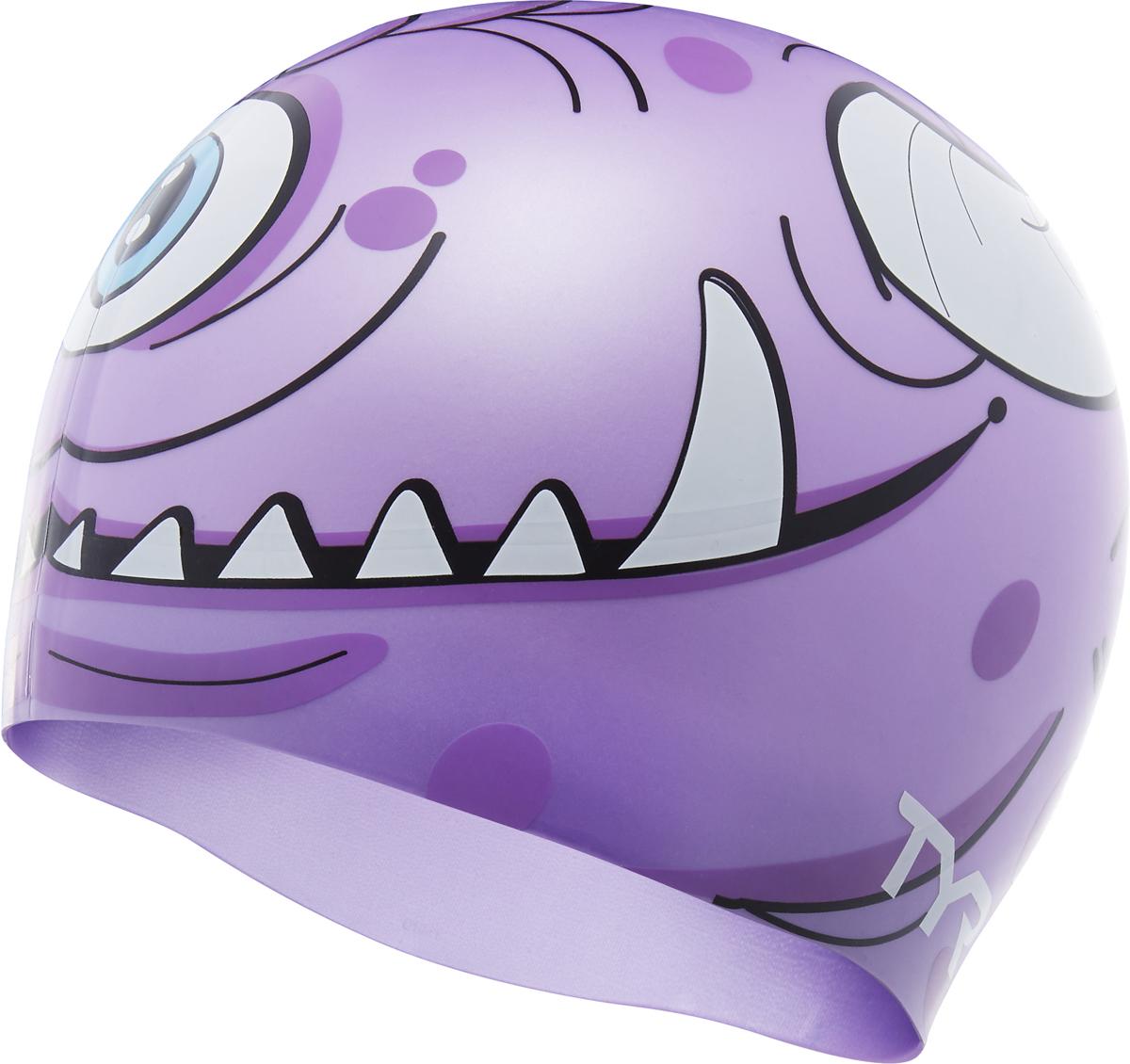 Шапочка для плавания Tyr Monster Swim Cap, цвет: фиолетовый. LCSMNSTRLCSMNSTRСиликоновая шапочка TYR с принтом изготовлена из высококачественного материала, устойчивого к воздействию хлорированной воды, что гарантирует долгий срок службы. Материал шапочки не вызывает раздражения кожи и других аллергических реакций. Прекрасный вариант для тренировок в бассейне.