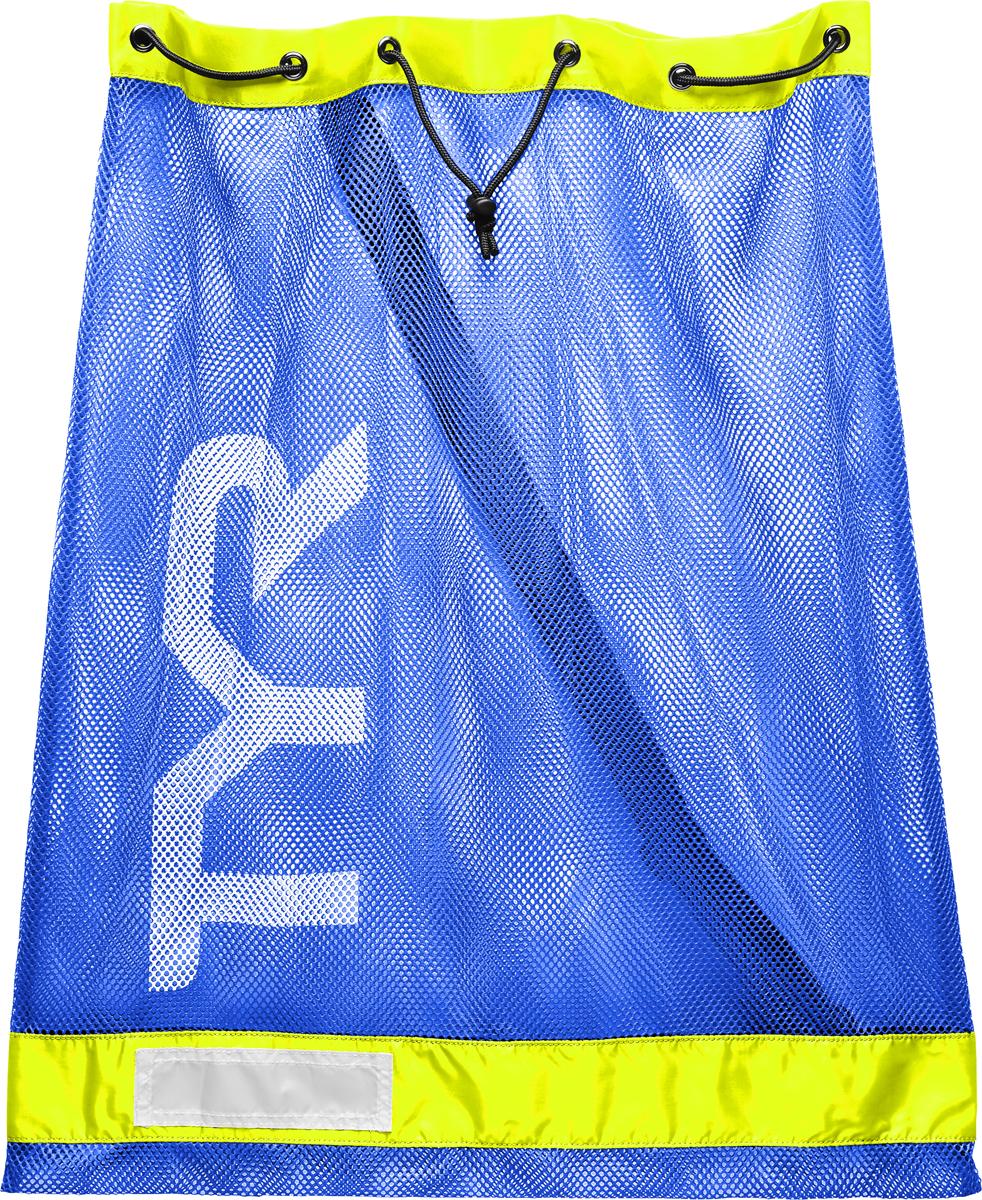 Мешок для аксессуаров Tyr Swim Gear Bag, цвет: голубой, желтый. LBD2LBD2Мешок для аксессуаров TYR Alliance Equipment Mesh Bag. Стильный и удобный мешок отлично подойдет для спортивного инвентаря, например: доска для плавания, большое полотенце, шапочка, ласты, очки, купальник, сланцы и многое другое. Мешок имеет два шнура для затягивания и удобного ношения. Мешок TYR сделан из прочной сетчатой ткани и за счет этого ваша влажная экипировка быстро высохнет.