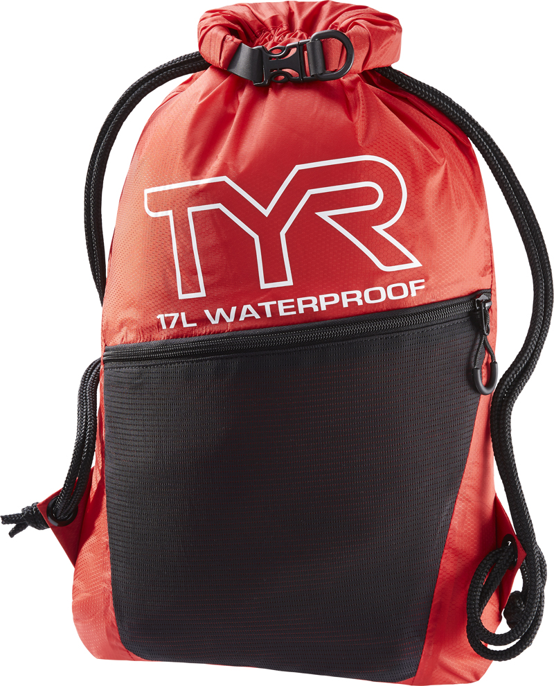 Рюкзак-мешок водонепроницаемый Tyr Alliance Waterproof Sack Pack, цвет: красный, черный. LWETDRYDLWETDRYDВодонепроницаемый рюкзак-мешок TYR Alliance Waterproof Sack Pack идеально подойдет для походов в бассейн. Рюкзак изготовлен с использованием технологии рипстоп ткани и сварных швов, чтобы обеспечить легкость, прочность и водонепроницаемую конструкцию. Рюкзак легко закрывается при помощи шнура, снаружи имеется карман на молнии.