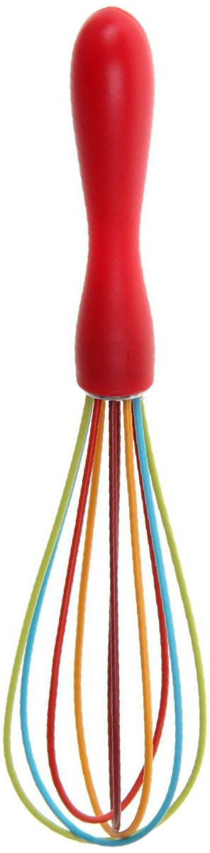 Венчик Доляна Профи, цвет: красный, 25 см1128817Венчик Доляна Профи является необходимым помощником каждого повара. Простое и надежное изделие служит аналогом миксера и блендера и предназначено для взбивания различных продуктов: Венчик прост в обращении и не требует затрат электроэнергии. Кроме того, изделие легко моется и при аккуратном использовании имеет неограниченный срок годности. Длина: 25 см.