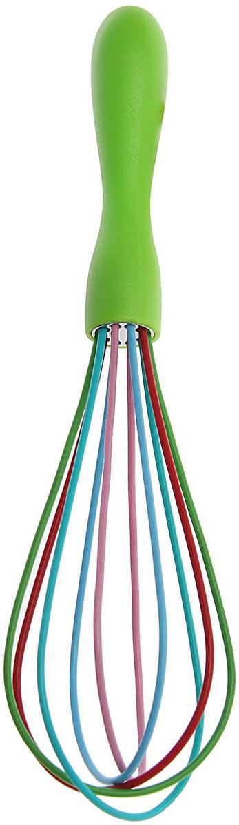 Венчик Доляна Профи, цвет: салатовый, 25 см1128817_салатовыйВенчик является необходимым помощником каждого повара. Простое и надёжное изделие служит аналогом миксера и блендера и предназначено для взбивания различных продуктов: Венчик прост в обращении и не требует затрат электроэнергии. Кроме того, изделие легко моется и при аккуратном использовании имеет неограниченный срок годности.