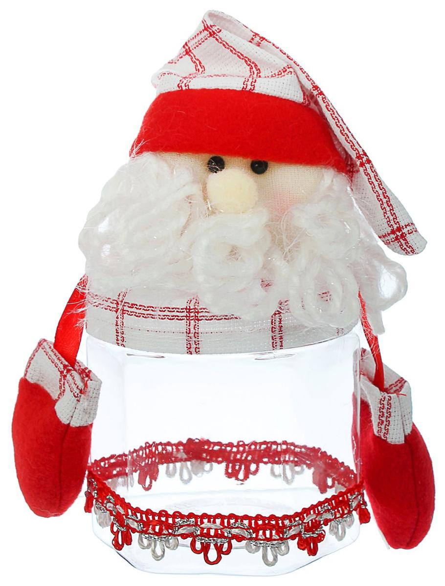 Конфетница Sima-land Новогодняя. Санта, вместимость 200 г1308843_сантаНарядная пластиковая банка, полная лакомств, непременно разбудит аппетит, а яркий символичный персонаж на крышке создаст новогоднее настроение. Креативная упаковка сделает ваш презент особенным и самым запоминающимся. А когда праздники закончатся, такая емкость пригодится на кухне.