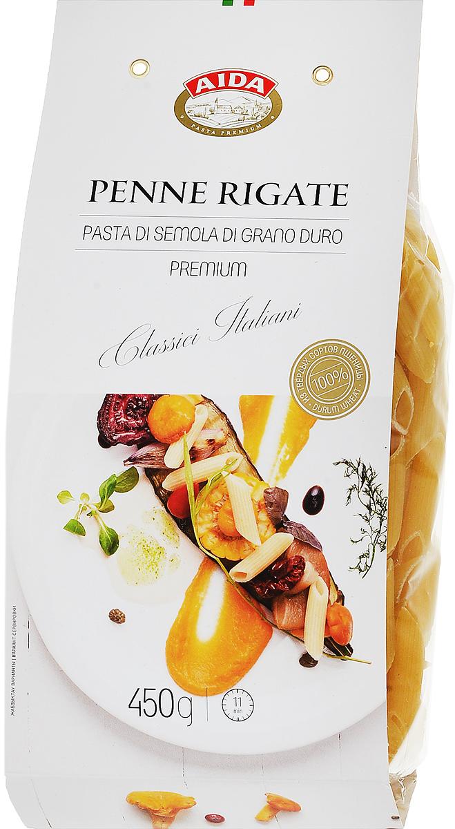 Aida Penne Rigati перо рифленое, 450 г чудо зернышко рис круглозерный 1 сорт 800 г