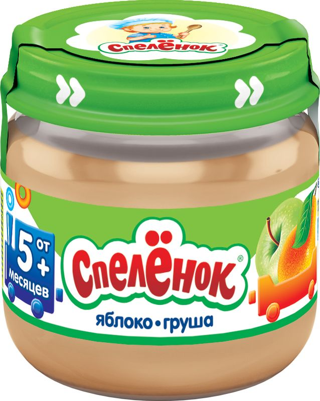 Спеленок пюре яблочно-грушевое, 80 г спеленок пюре морковь с яблоком с 5 мес 80 гр