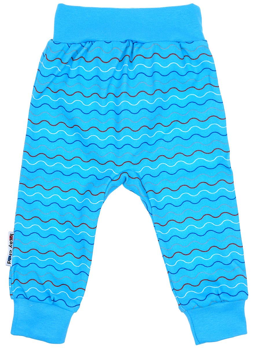 Штанишки детские Luky Child, цвет: голубой. А5-111. Размер 86/92 штанишки детские luky child цвет розовый бирюзовый а6 111 размер 86 92