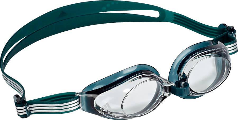 Очки для плавания Adidas Aquastorm 1PC, цвет: зеленый. V86954V86954Очки для плавания Adidas Aquastorm 1PC незаменимы во время тренировок. Важной составляющей является правильное положение на лице. Поэтому в модели присутствуют ремешок и перемычка для носа с возможностью подгонки под индивидуальные особенности. Герметизирующие прокладки, изготовленные из термопластичной резины, крепятся к оправе технологией многослойного литья.Заслуживающие доверия и практичные очки для тренировок, обеспечивающие великолепную видимость.