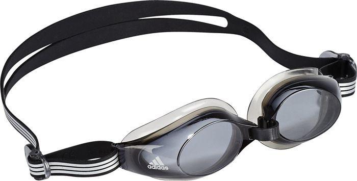 Очки для плавания Adidas Aquastorm 1PC, цвет: черный. V86955V86955Очки для плавания Adidas Aquastorm 1PC незаменимы во время тренировок. Важной составляющей является правильное положение на лице. Поэтому в модели присутствуют ремешок и перемычка для носа с возможностью подгонки под индивидуальные особенности. Герметизирующие прокладки, изготовленные из термопластичной резины, крепятся к оправе технологией многослойного литья.Заслуживающие доверия и практичные очки для тренировок, обеспечивающие великолепную видимость.