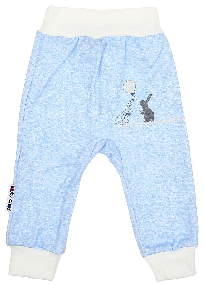 Фото Штанишки детские Luky Child, цвет: голубой. А1-111/голубой. Размер 62/68