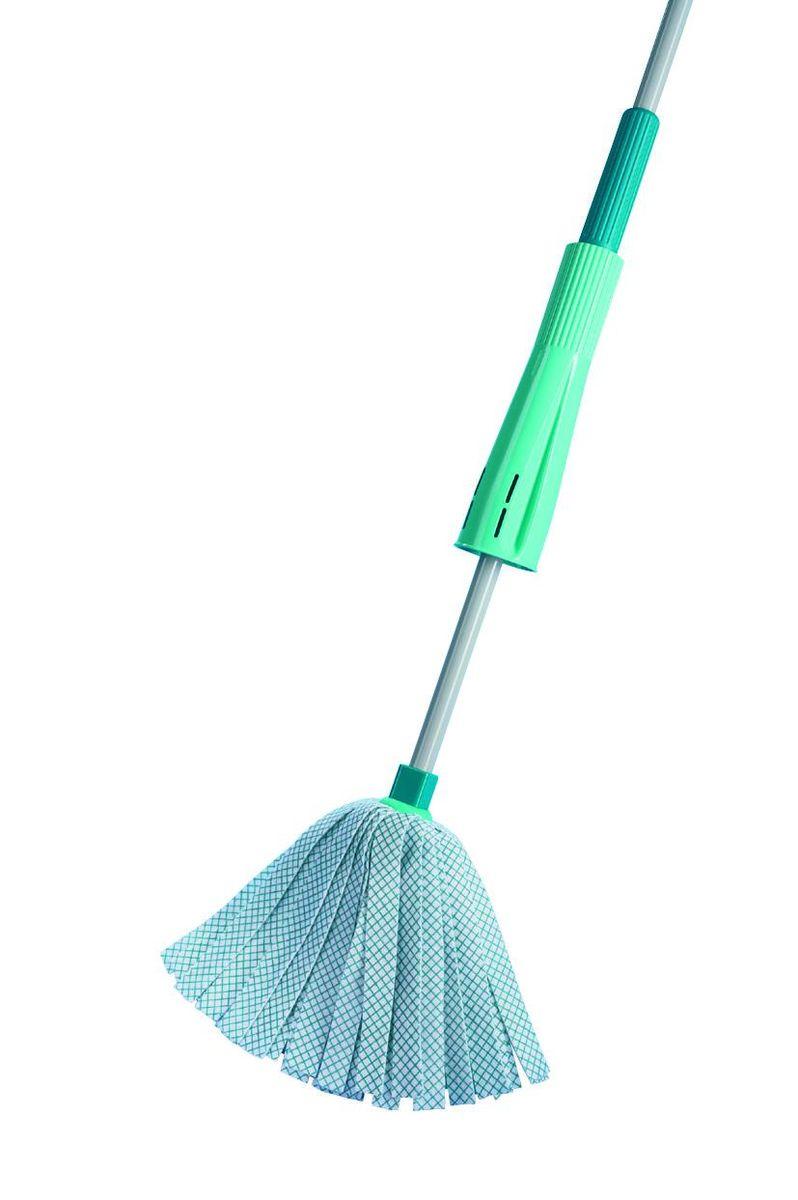 Швабра хозяйственная для пола Leifheit Wet Mop, цвет: бирюзовый leifheit 52019 clean twist mop комплект швабра моп ведро с механизмом отжима