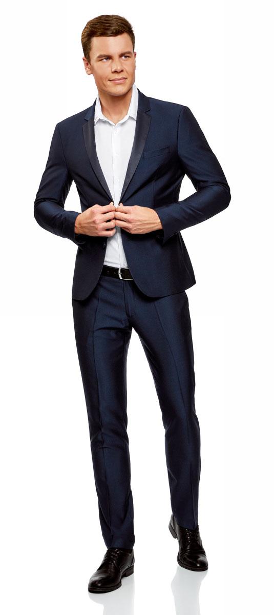 Рубашка мужская oodji Lab, цвет: белый. 3L110305M/47419N/1000O. Размер 41-182 (50-182)3L110305M/47419N/1000OКлассическая рубашка, выполненная из хлопка с добавлением полиэстера - неотъемлемая часть мужского гардероба. Модель с длинными рукавами и отложным воротником застегивается на пуговицы.