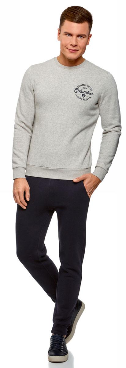 Брюки мужские oodji Basic, цвет: темно-синий. 5B200004M/44312N/7901N. Размер XS (44)5B200004M/44312N/7901NМужские брюки, выполненные из хлопка с добавлением полиэстера, подойдут как для повседневной носки, так и для занятий спортом. Модель на талии имеет широкую эластичную резинку со шнурком-кулиской. Спереди брюки оснащены двумя втачными карманами, сзади одним накладным карманом. Низ брючин дополнен трикотажными манжетами.