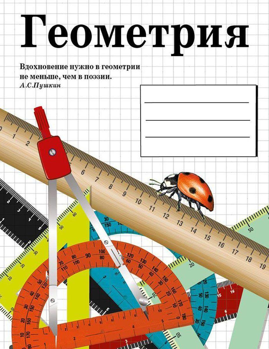 Стрекоза Тетрадь Геометрия 48 листов в клетку8901Тематическая тетрадь по геометрии в клетку с полями. Обложка - картон. Учитесь с удовольствием и делайте свои удивительные открытия!